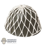 Helmet: IQO Model Japanese Metal Helmet w/Netting