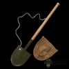 Shovel: IQO Model WWII Japanese Entrenching Tool w/Cover (Metal + Wood)