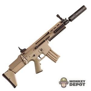 Rifle: Hot Toys SCAR L Black w/EO Tech, Grip Pod