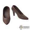 Shoes: JXToys Female Brown High Heeled Shoes