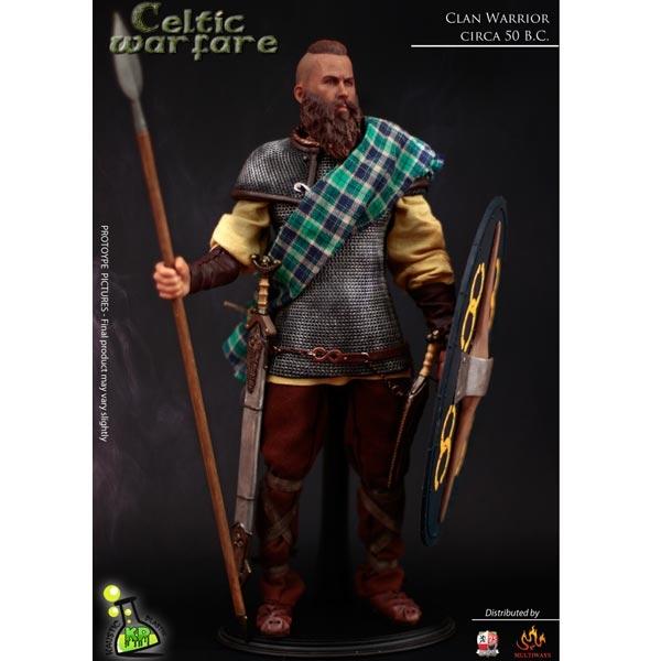 Monkey Depot - Boxed Figure Kaustic Plastik Celtic Warfare Clan Warrior Gikp-Wh11A-1265