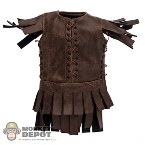 Vest: Kaustic Plastik Brown Leather Vest