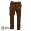 Pants: Kaustic Plastik Mens Brown Suede Pants