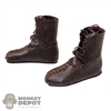 Boots: Kaustic Plastik Mens Leather-Like Calcei Shoes