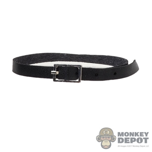 Belt: LIM Toys Mens Black Leather-Like Belt