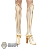 Boots: Lucifer White and Gold Boots w/Leg Armor