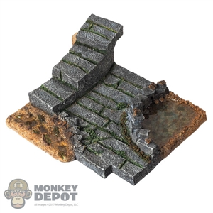 Display: Lucifer Stone Steps w/Fish Pond