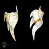 Armor: Lucifer Female White and Gold Upper Arm Guards