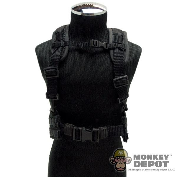 Monkey Depot - Harness: Sideshow MOLLE Belt w/ H Harness (Black)