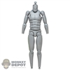 Figure: Sideshow Grey Boba Fett Base Body w/Neck + Ankle Pegs