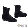 Boots: Magic Cube Female Black Tactical Boots