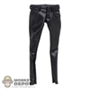 Pants: Magic Cube Female Black Leatherlike Pants