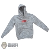 Sweater: Magic Cube Mens Grey SuperMC Hooded Sweatshirt