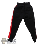 Pants: Magic Cube Mens Red + Black Sweatpants w/Pocket