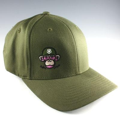 f5363585d Monkey Depot Logo Flexfit Baseball Cap - OD Green
