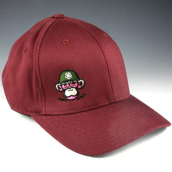 d8382d20b Monkey Depot Logo Flexfit Baseball Cap - Maroon