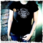 Monkey Depot Shirt: Womens Grease Monkey Bling