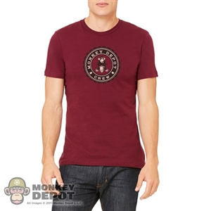 Monkey Depot Shirt: Mens Red Monkey Crew T-Shirt