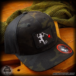 Monkey Edge Hat: Primate Pirate - Multicam Black