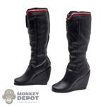 Boots: MIS Toys Black Female Molded Boots