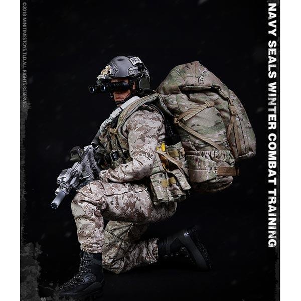 Minitimes M011 1//6th US Navy Seals Winter Combat Training HK416 automatic rifle