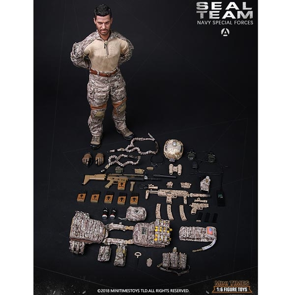 Mini Times toys MT-M013 US Navy Special Forces Seal Team HALO 1//6 Figure w// Dog