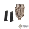 Ammo: Mini Times Double Pistol Mag Pouch w/Ammo (AOR1)