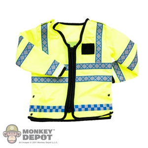 Coat: Modeling Toys Female British Police Hi-Vis Jacket