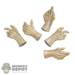 Hands: Art Figures White Molded Gloved Hand Set