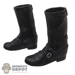Boots: LIM Toys Mens Black Molded Zipper Boots