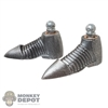 Boots: Coo Models Mens Silver Distressed Shoes