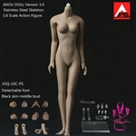 INCOMPLETE Boxed Figure: Jiaou Doll - Version 3.0 with Stainless Steel Skeleton (JOQ-10C-PS) - Black Skin