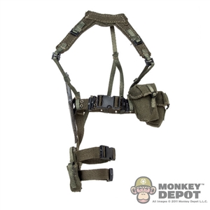 Harness: Mr. Toys Female Web Belt w, Harness, Pouches, Holster and Knife