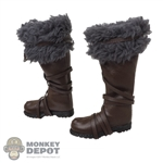 Boots: Mr. Toys Mens Leather-Like Boots w/Fur