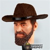 Hat: Newline Miniatures Cowboy Felt Brown