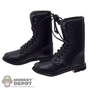 Boots: Newline Miniatures Fallschirmjager Front Lacing Black