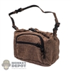 Pack: OneToys Brown Leather-Like Travel Bag w/Shoulder Strap