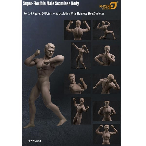 1//6 TBLeague Toy PL2015-M30 Muscle Male Seamless Body Stainless Steel Figure