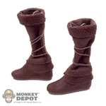 Boots: Phicen Brown Cloth Boots