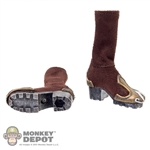Boots: TBLeague Brown Cloth Boots