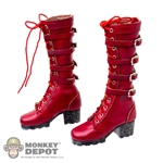 Boots: TBLeague Red Laced Boots