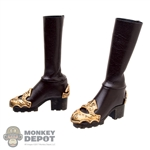 Boots: TBLeague Brown Female Boots w/Armor
