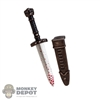 Knife: TBLeague Bloody Small Dagger w/Sheath