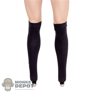 Stockings: TBLeague Female Black Leg Sleeves