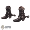 Boots: TBLeague Female Molded Cowboy Boots w/Spurs