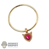 Necklace: TBLeague Female Gold Necklace w/Heart Jewel