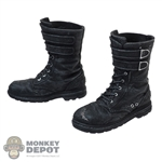 Boots: TBLeague Male Molded Black Weathered Boots