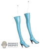 Boots: TBLeague Light Blue Thigh-High Boots (Weathered)