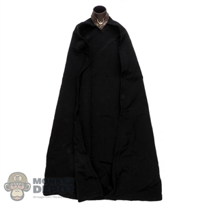 Cape: TBLeague Female Black Cape w/Molded Neck Collar