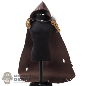 Cape: TBLeague Female Brown Hooded Cloak w/Fur
